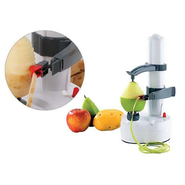 Kitchen Automatic Electric Peeler Peel Fruit Vegetable Rapide - White
