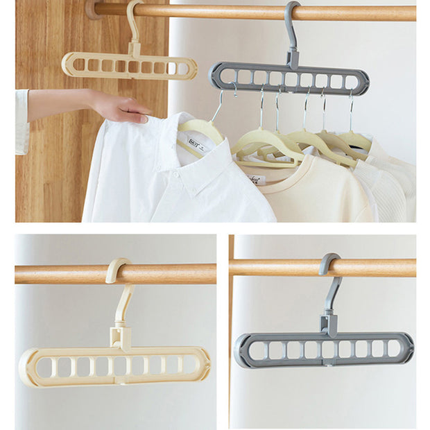 Magic Multi-port Support Circle Clothes Hanger Clothes Drying Rack Multifunction Plastic Hangers Storage Racks