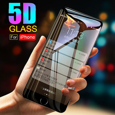 Best Real 3D Curved Full Cover Screen Protector 9H 5D Tempered Glass for iPhone 6 6S 7 8 Plus X Xs Max XR Anti Fingerprints
