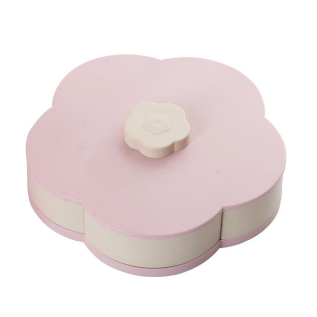 2019 New Rotating Fruit Storage Box Petal Fruit Plate 5 Grids Nut Snack Candy Storage Box Fruit Container Jewelry Organizer
