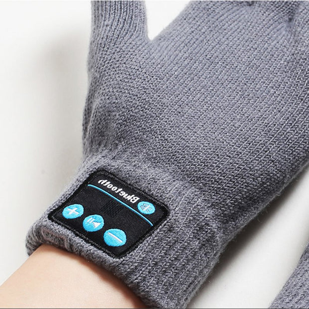 Bluetooth Gloves Women Men Unisex Winter Knit Warm Mittens Call Talking &Touch Screen Gloves