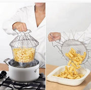 Stainless Steel Foldable Cooking Basket, best for frying