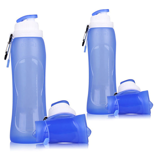 500ML Creative Collapsible Camping Travel Bicycle Sports Water Bottles DrinkwareOutdoor Foldable Silicone Water Bottle