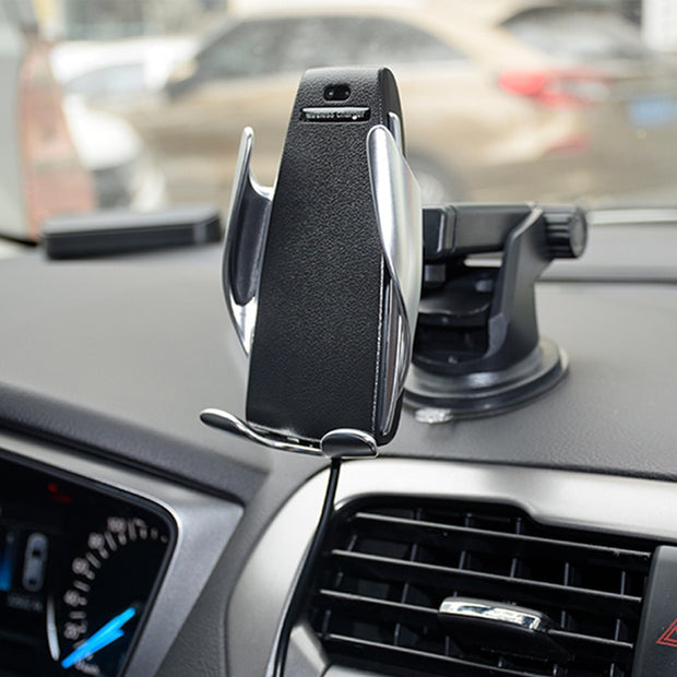 Smart Induction Car Phone Holder Wireless Charging Car Holder Bluetooth
