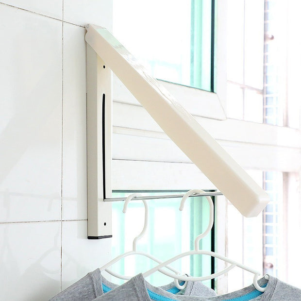 Stainless Steel Wall Hanger Retractable Indoor Clothes Hanger Magic Foldable