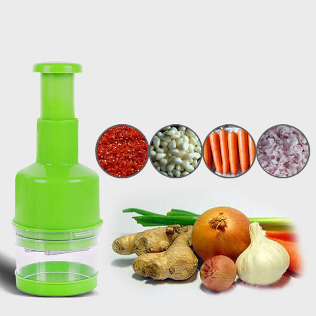 Kitchen Veggie Chopper Stainless Steel Hand Press Shredder Pat Punch Press Garlic Onion Ginger Ginger Garlic Shredder Machine