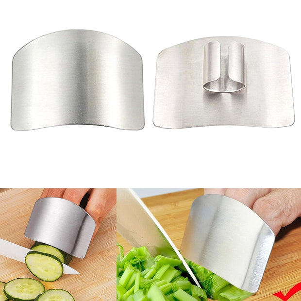 1 Pcs Finger Guard Finger Hand Cut Hand Protector Knife Cut Finger Protection Tool Stainless Steel Kitchen Tool Gadgets