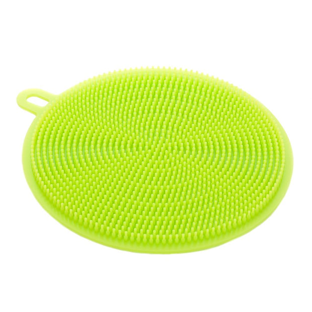 10pcs Silicone Dish Bowl Cleaning Brush Silicone Scouring Pad Silicone Dish Sponge Kitchen Pot Cleaner Washing Tool