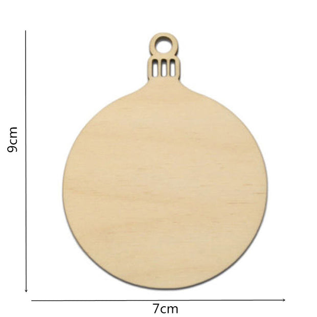 Wooden Tags Christmas Balls Decor Art Crafts