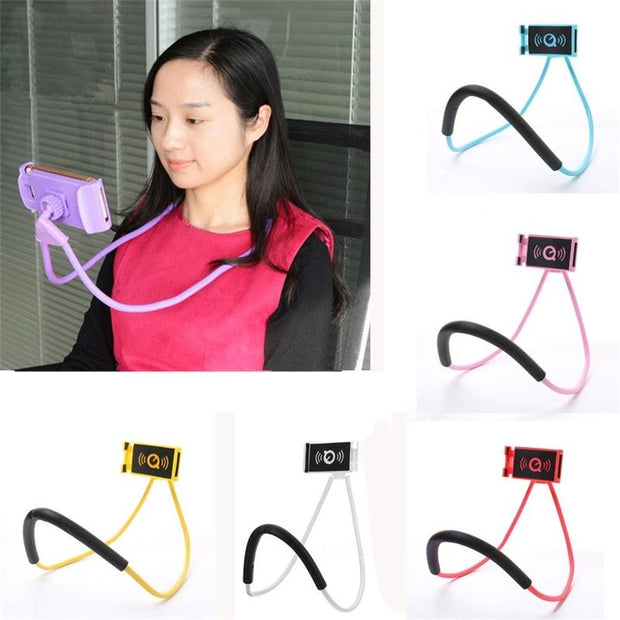 2019 Lazy Hanging Neck Phone Holder Stands Necklace Cellphone Flexible Support Bracket for Samsung Universal Holder for iphone