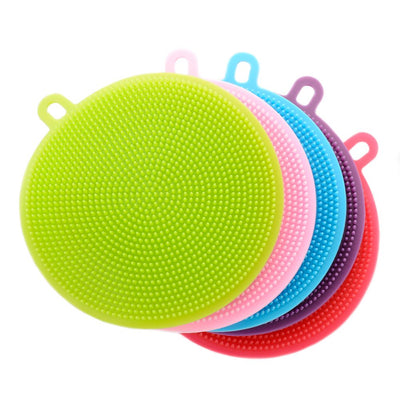 10pcs Silicone Dish Bowl Cleaning Brush