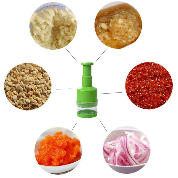 Kitchen Veggie Chopper Stainless Steel Hand Press