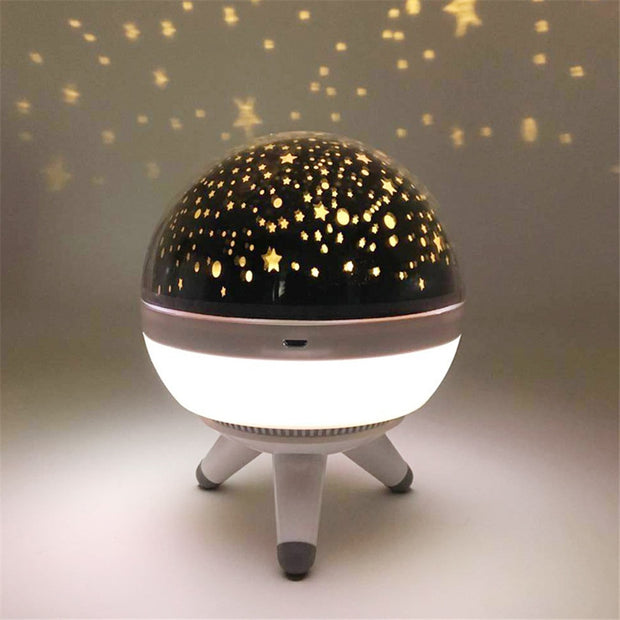 Rotating Night Light Projector Spin Starry Sky USB Lamp Projection