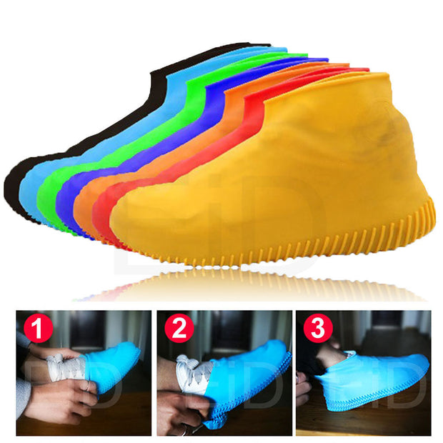 Reusable Silicone Waterproof Rain Shoe Cover durable Outdoor Rainproof Hiking Skid-proof Cycling Sport Shoe Cover