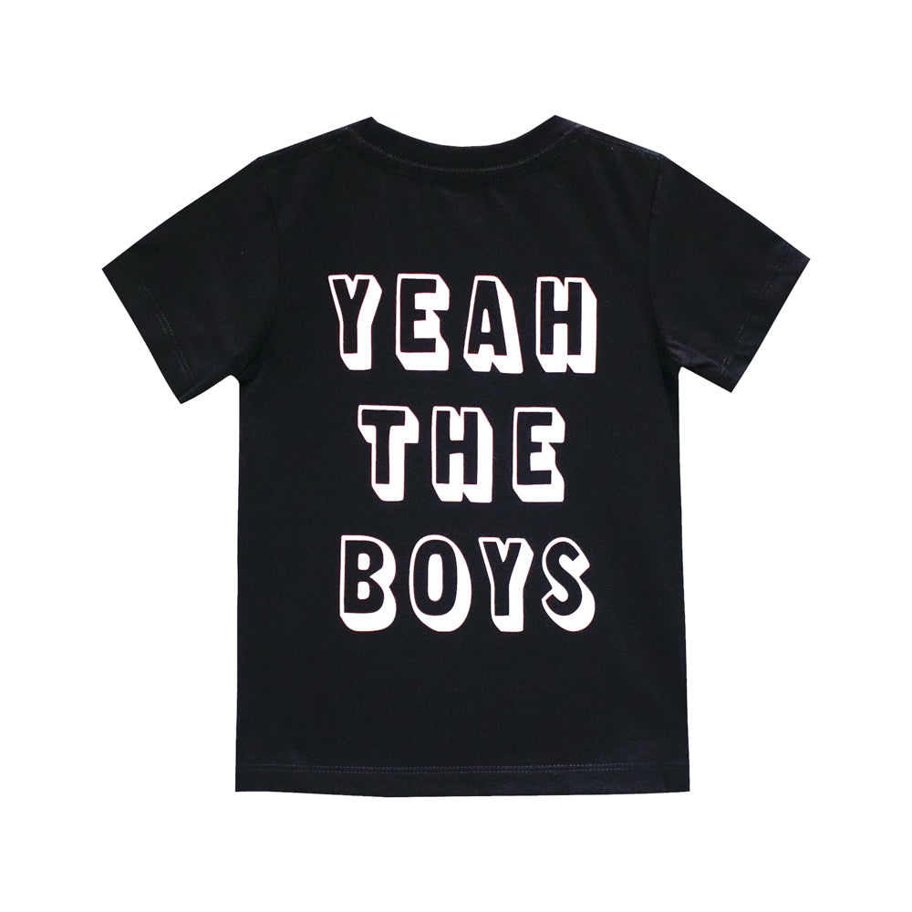 YEAH THE BOYS SMALL PRINT TEE