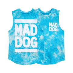 MAD DOG BOYS MUSCLE TEE TIEDYE BLUE