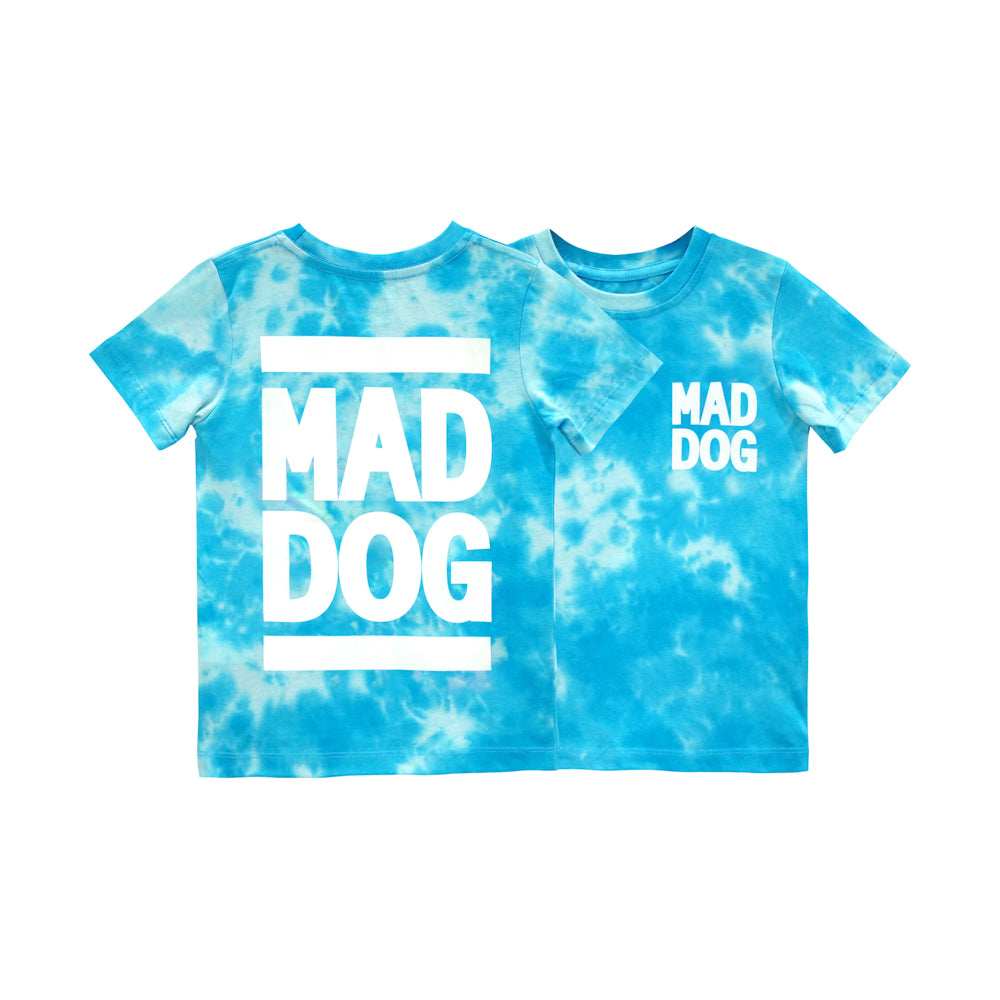 MAD DOG BOYS TEE TIEDYE BLUE