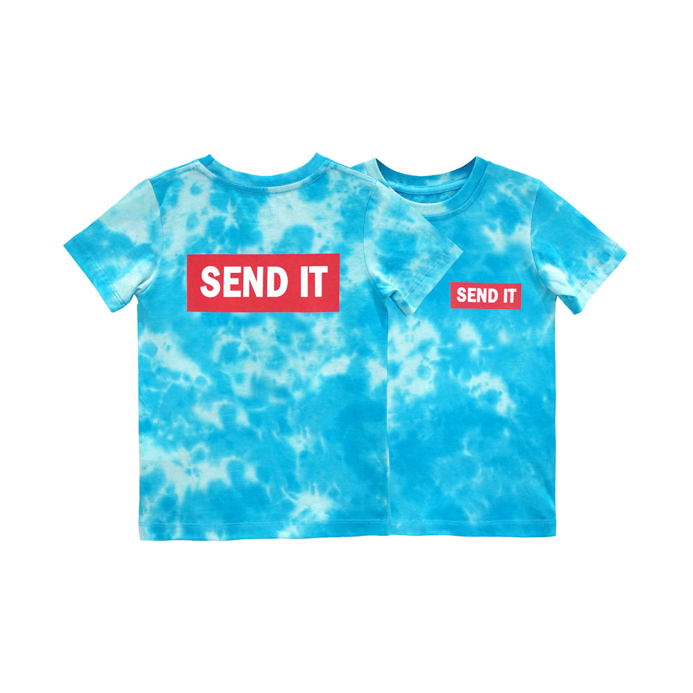 SEND IT BOYS TEE TIEDYE BLUE