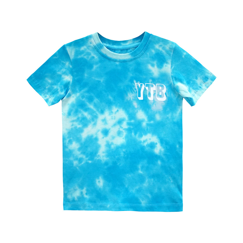 YEAH THE BOYS TEE TIEDYE BLUE