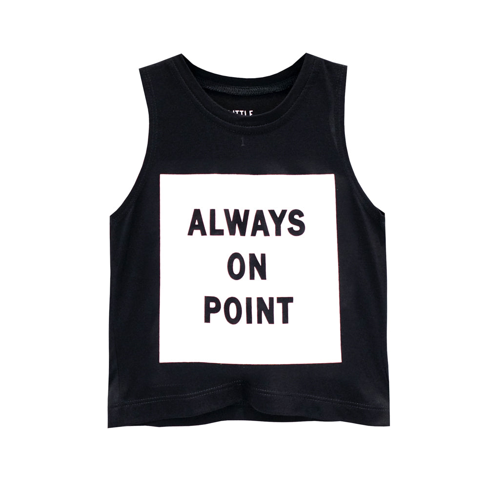 ALWAYS ON POINT GIRLS CROP SINGLET