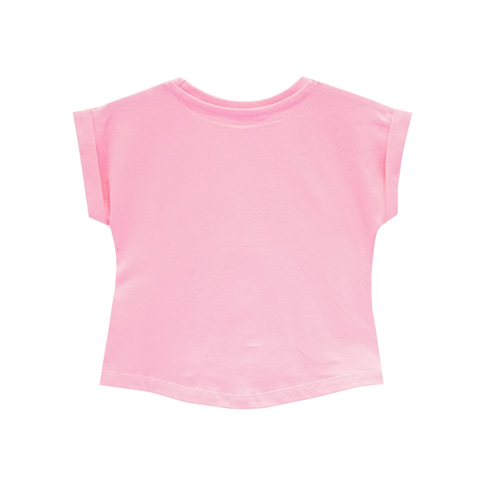 MILK AND BOOBIES GIRLS TEE PINK