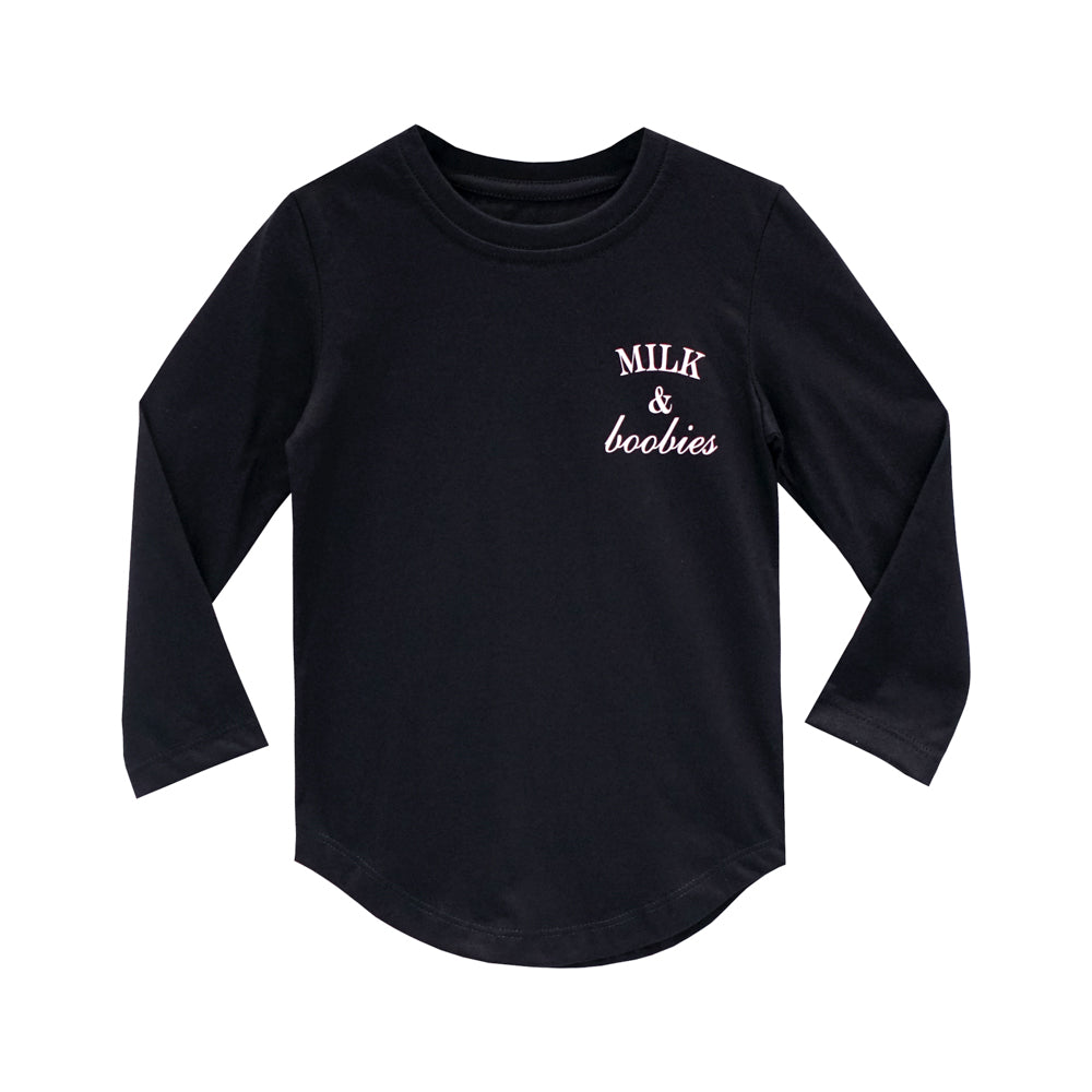 MILK AND BOOBIES BOYS LONG SLEEVE