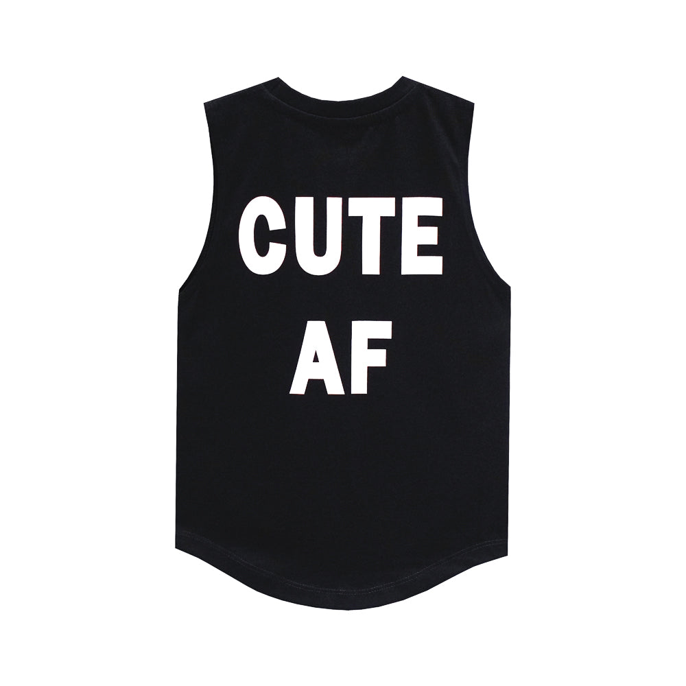 CUTE AF MUSCLE TEE SMALL PRINT