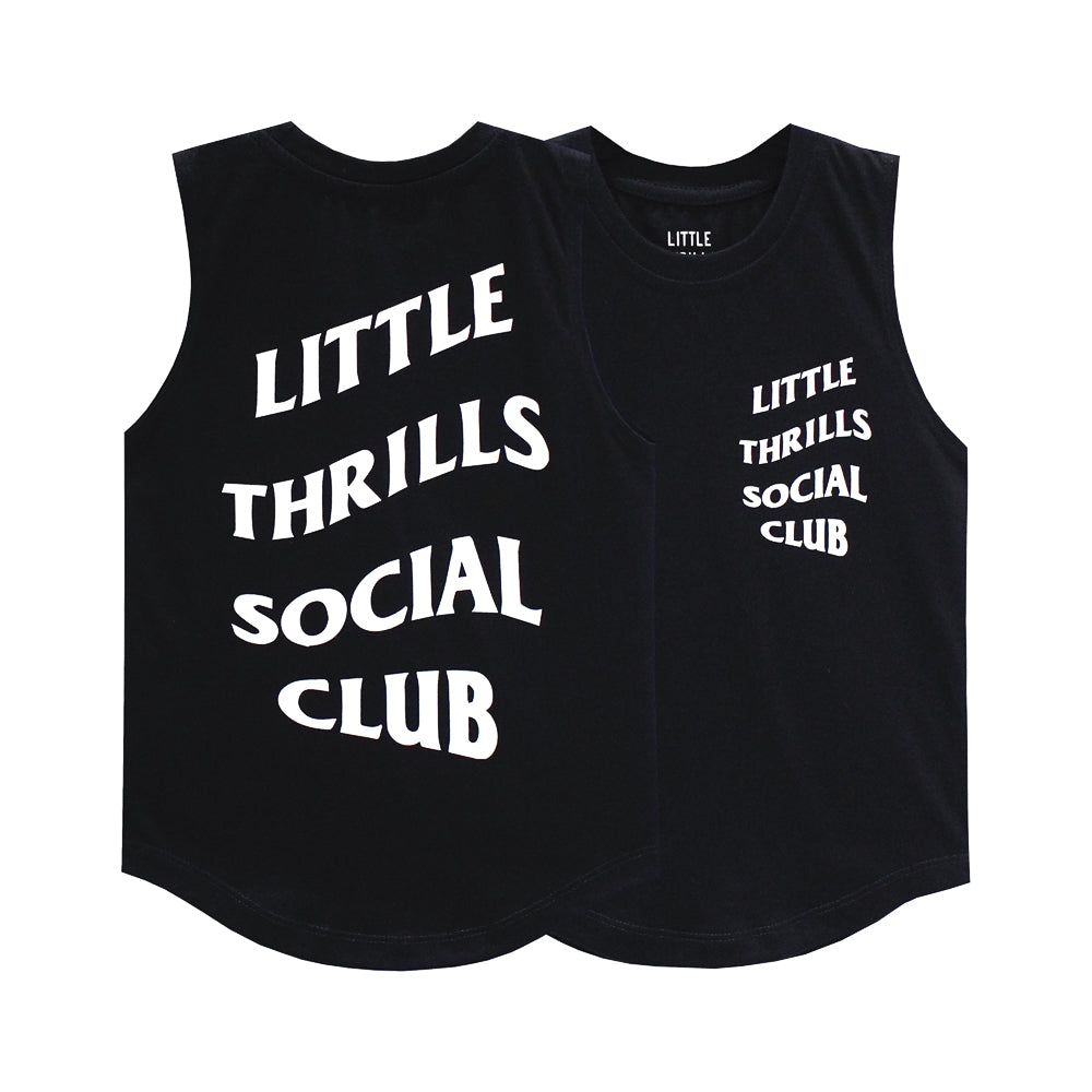 SOCIAL CLUB MUSCLE TEE SMALL PRINT