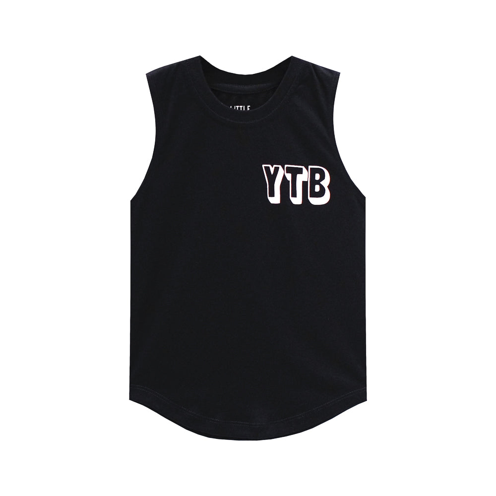 YEAH THE BOYS MUSCLE TEE SMALL PRINT