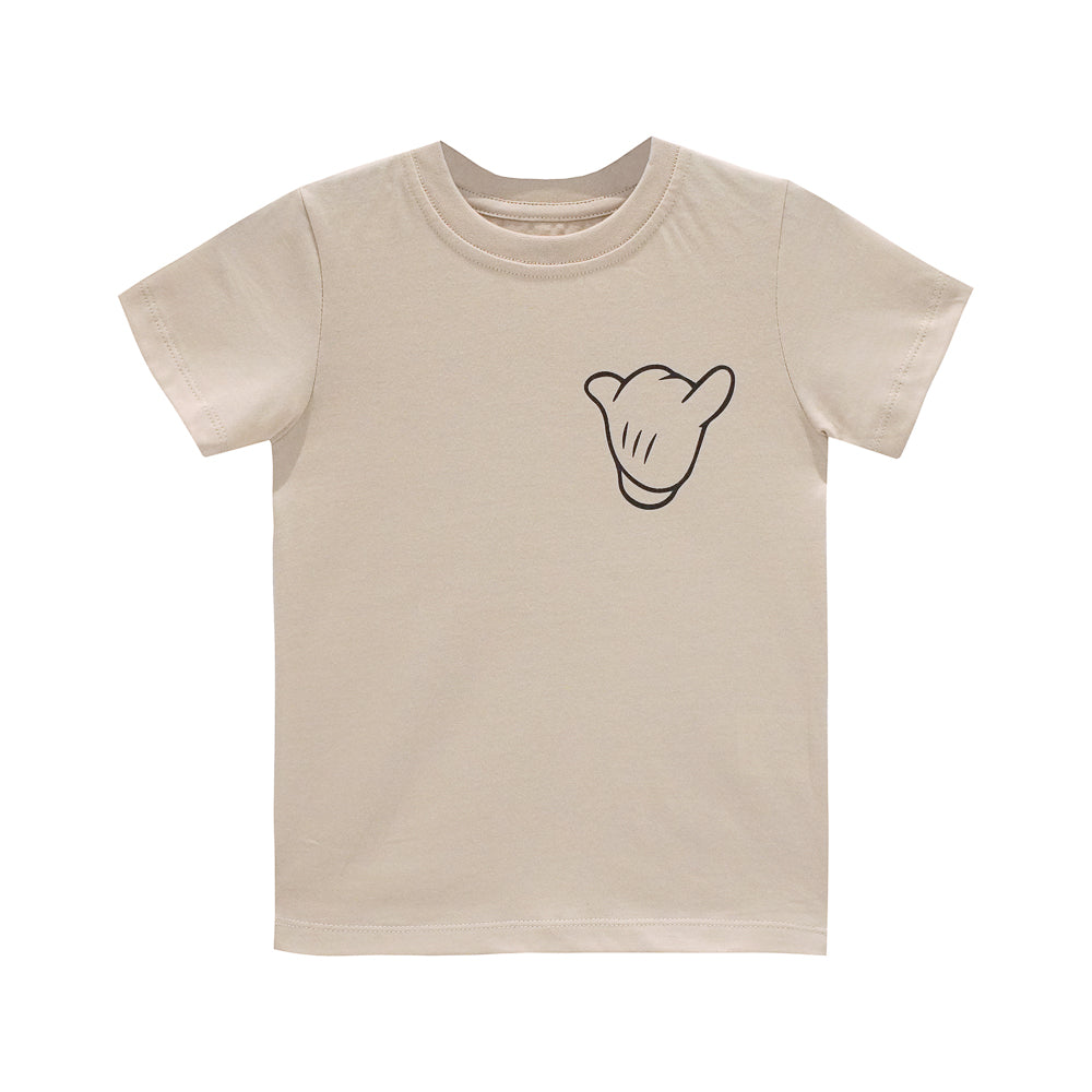 ITS ALL GOOD BOYS SMALL PRINT TEE TAN