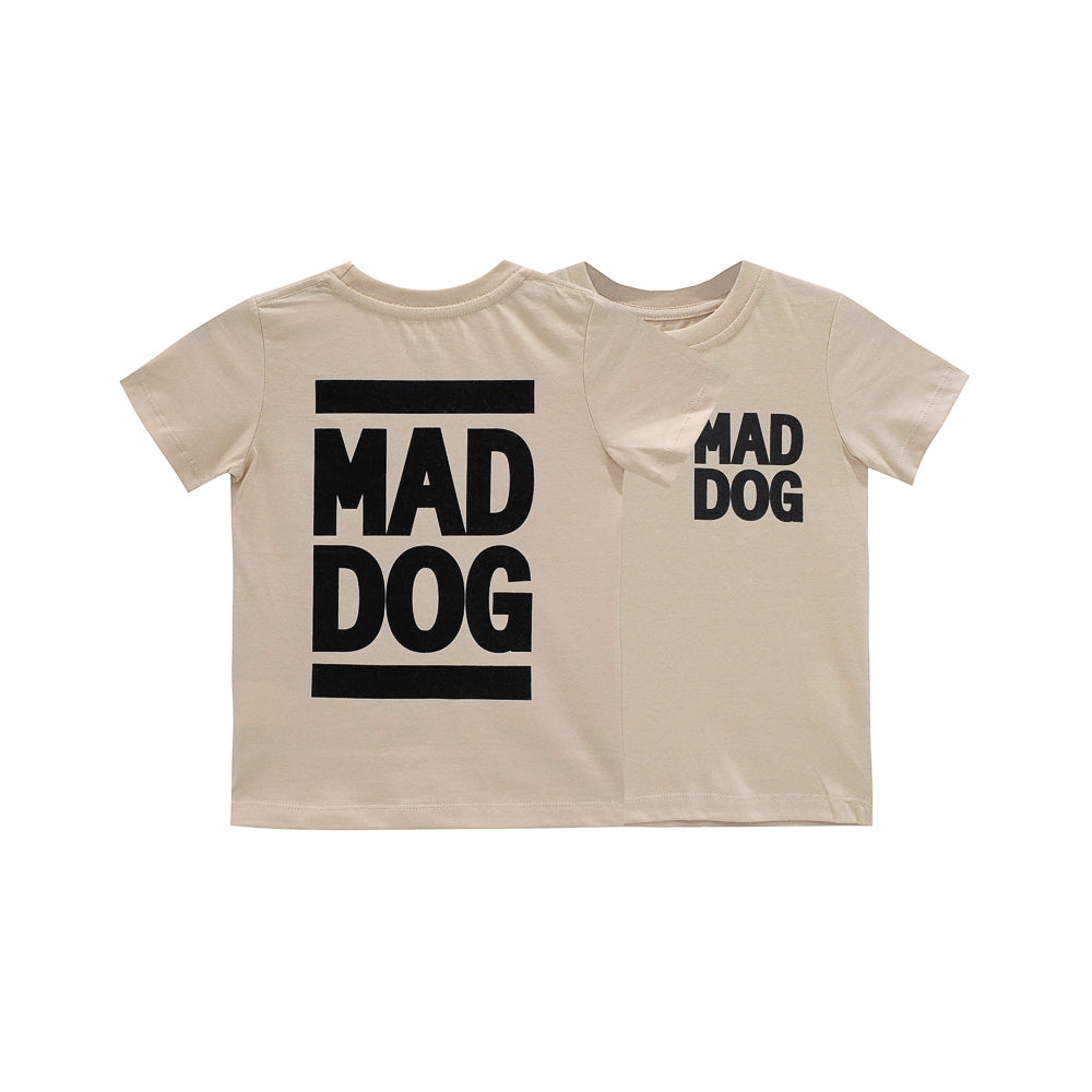 MAD DOG BOYS SMALL PRINT TEE TAN