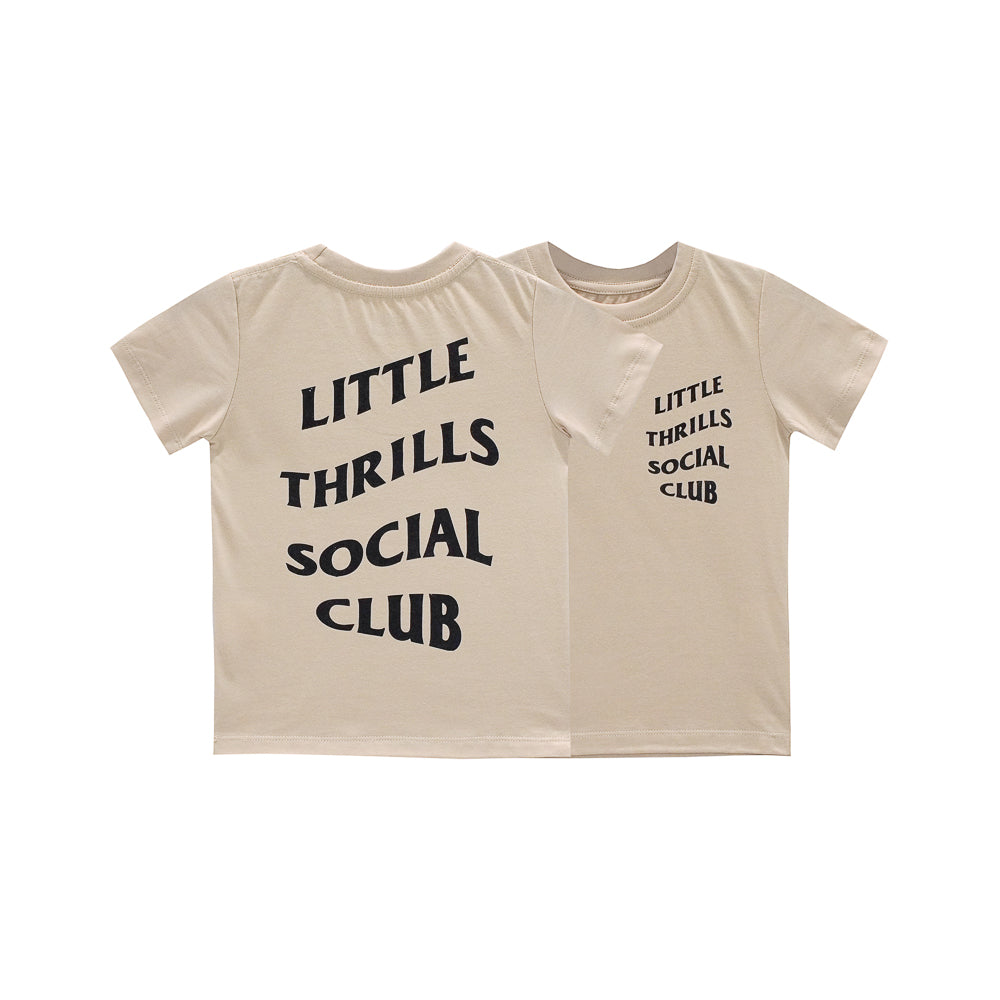 SOCIAL CLUB BOYS SMALL PRINT TEE TAN