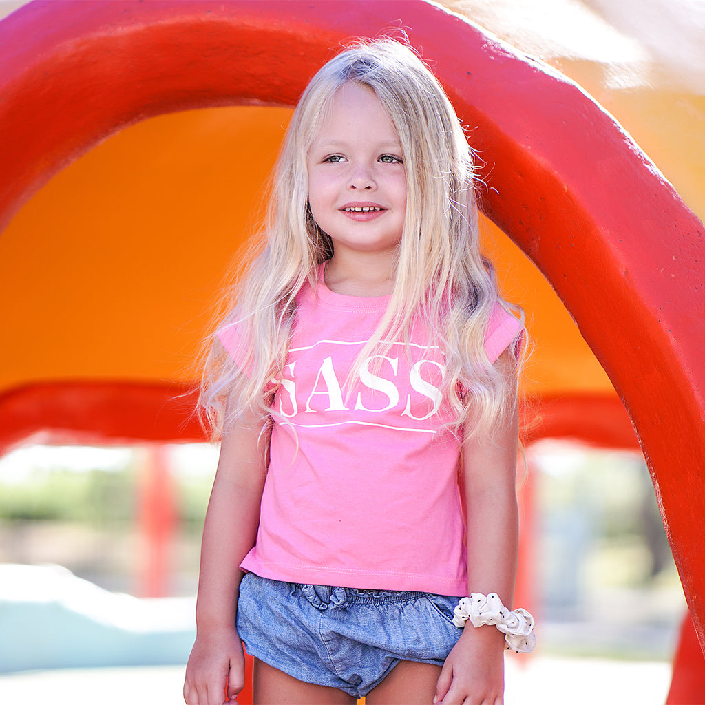 SASS GIRLS TEE PINK