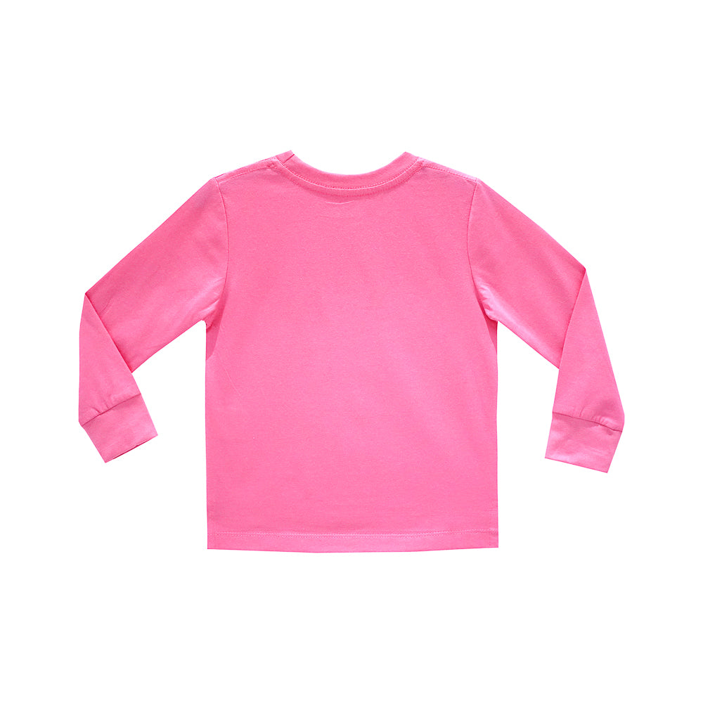 FEELING CUTE GIRLS LONG SLEEVE PINK