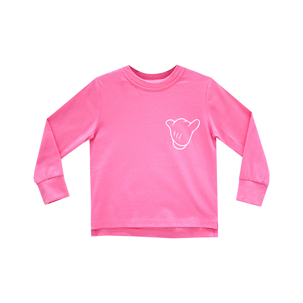 ITS ALL GOOD GIRLS LONG SLEEVE PINK