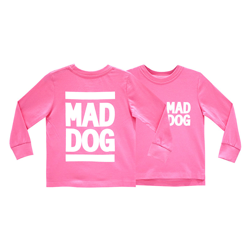 MAD DOG GIRLS LONG SLEEVE PINK