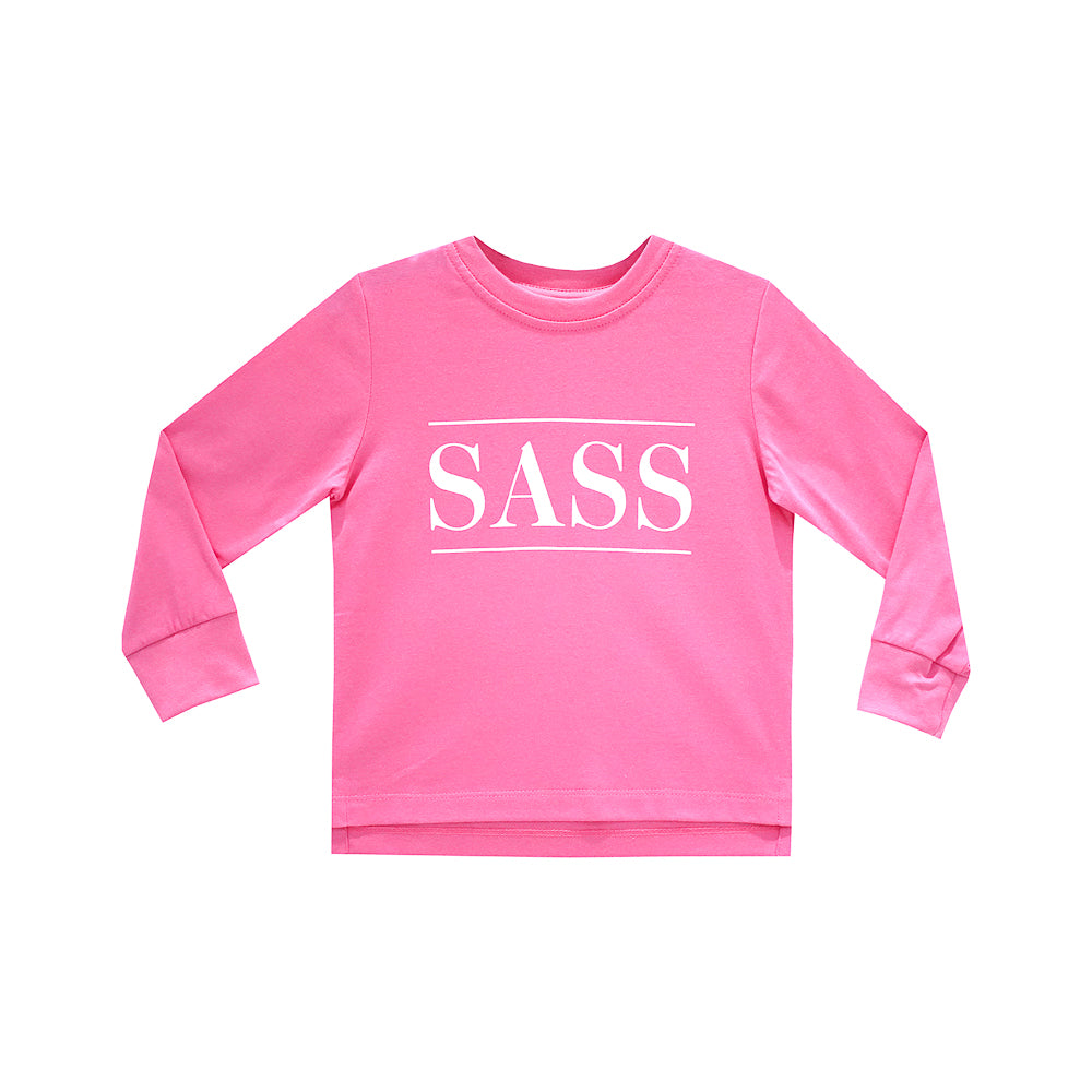 SASS GIRLS LONG SLEEVE PINK