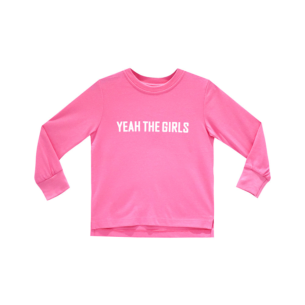 YEAH THE GIRLS LONG SLEEVE PINK