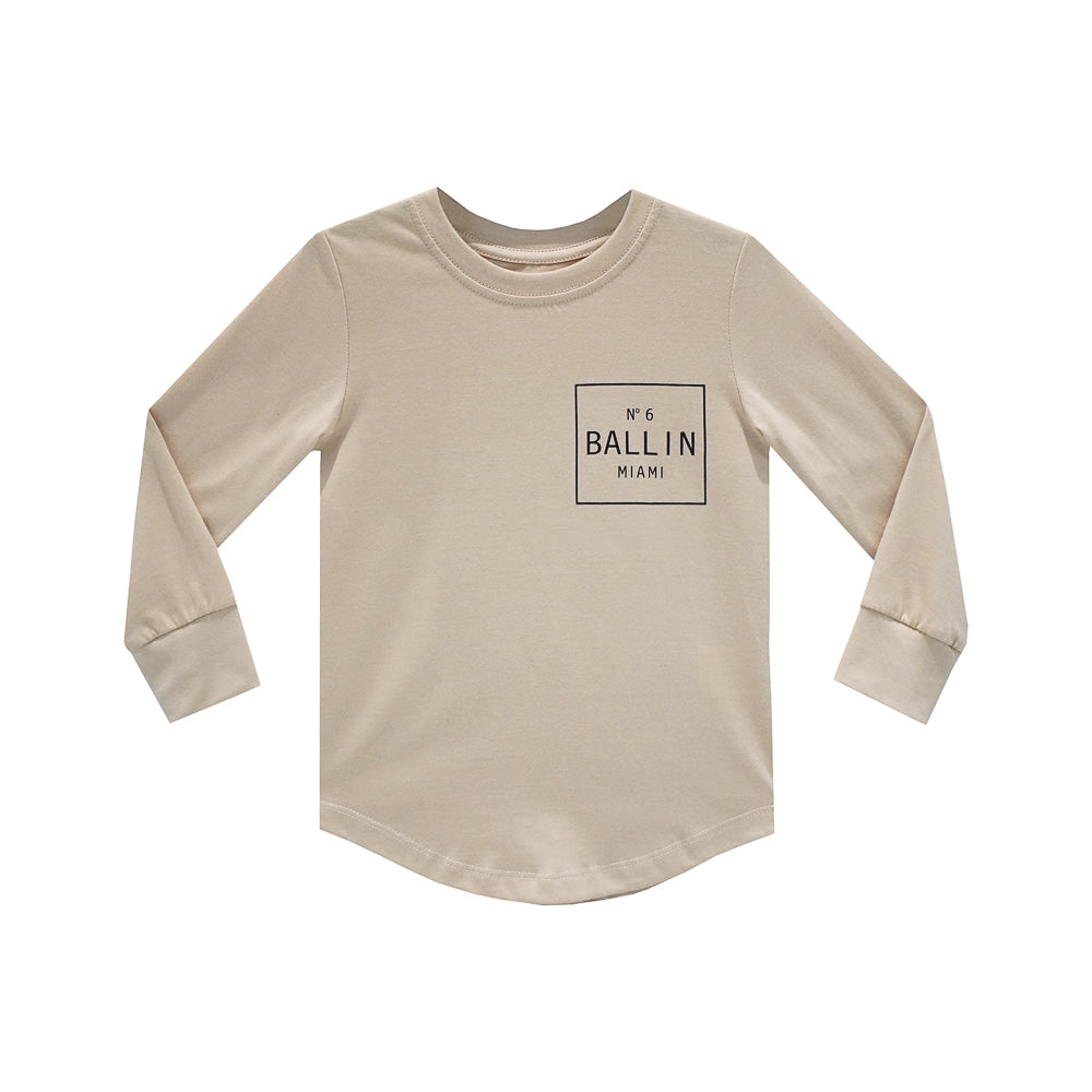 BALLIN BOYS LONG SLEEVE TAN