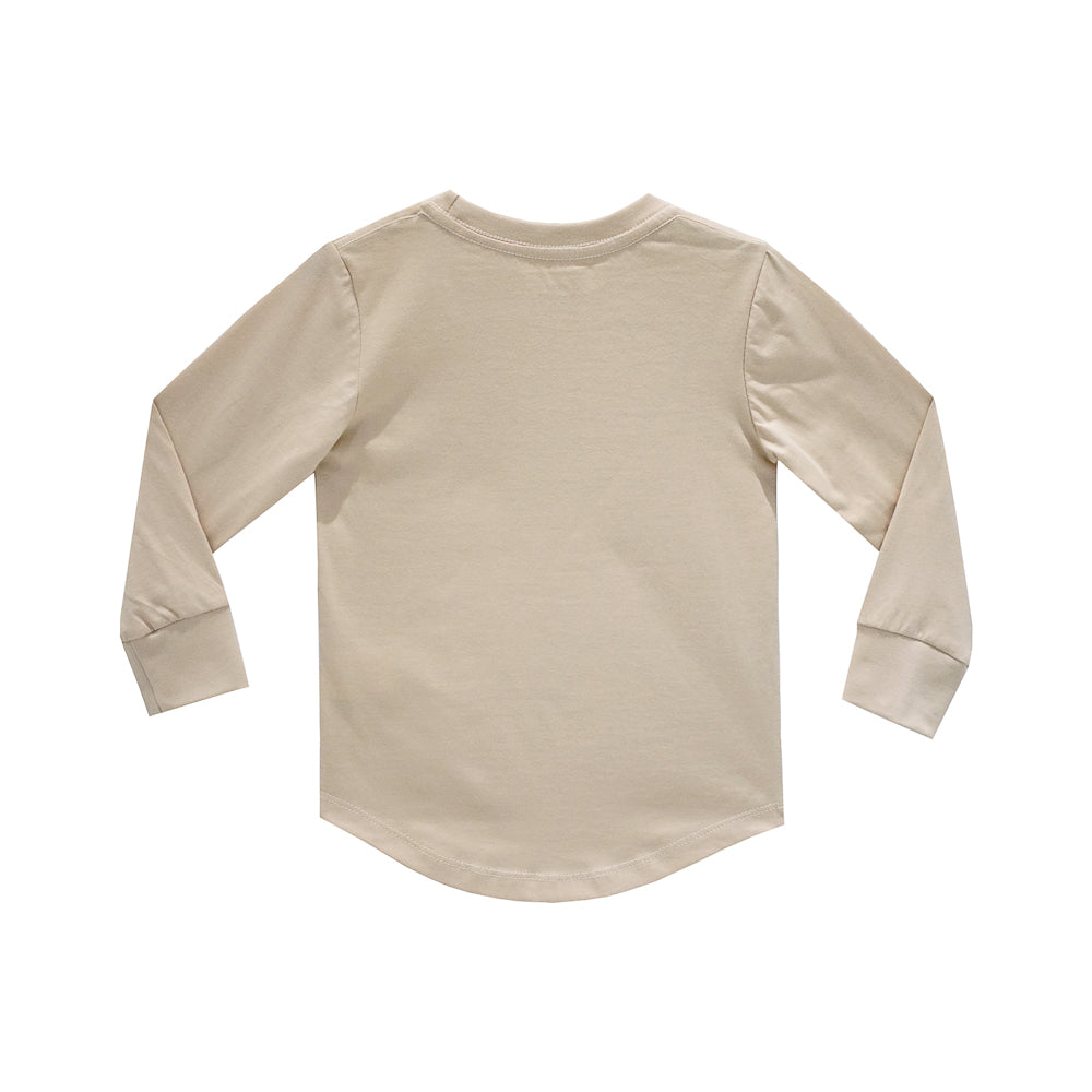 FEELING CUTE BOYS LONG SLEEVE TAN