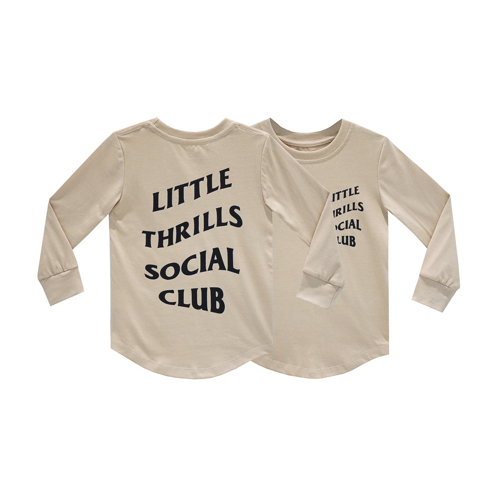 SOCIAL CLUB BOYS LONG SLEEVE TAN