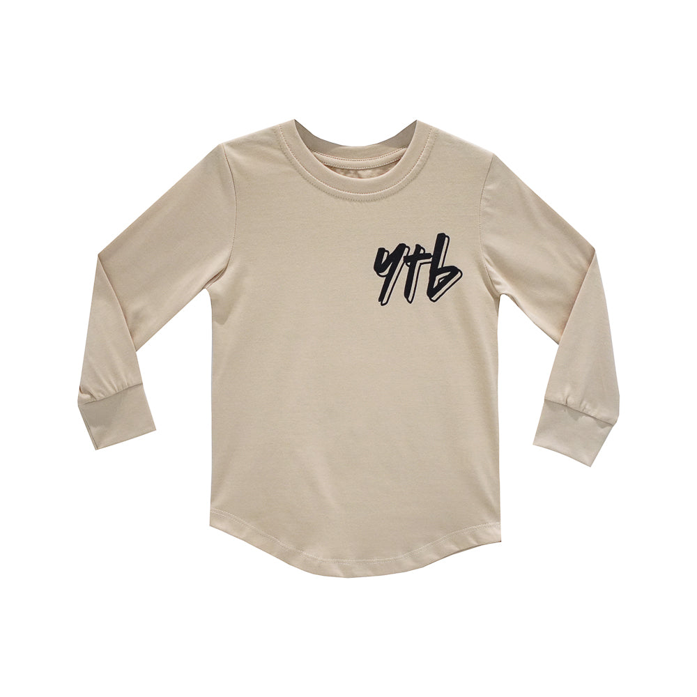 YEAH THE BOYS V2 BOYS LONG SLEEVE TAN