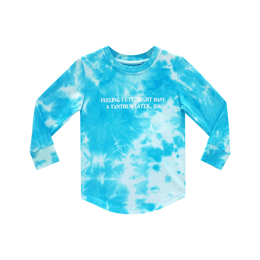 FEELING CUTE BOYS LONG SLEEVE TIEDYE BLUE