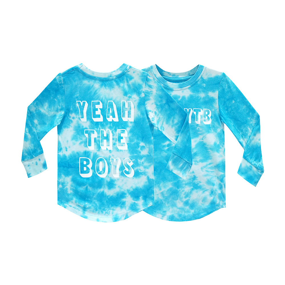 YEAH THE BOYS LONG SLEEVE TIEDYE BLUE