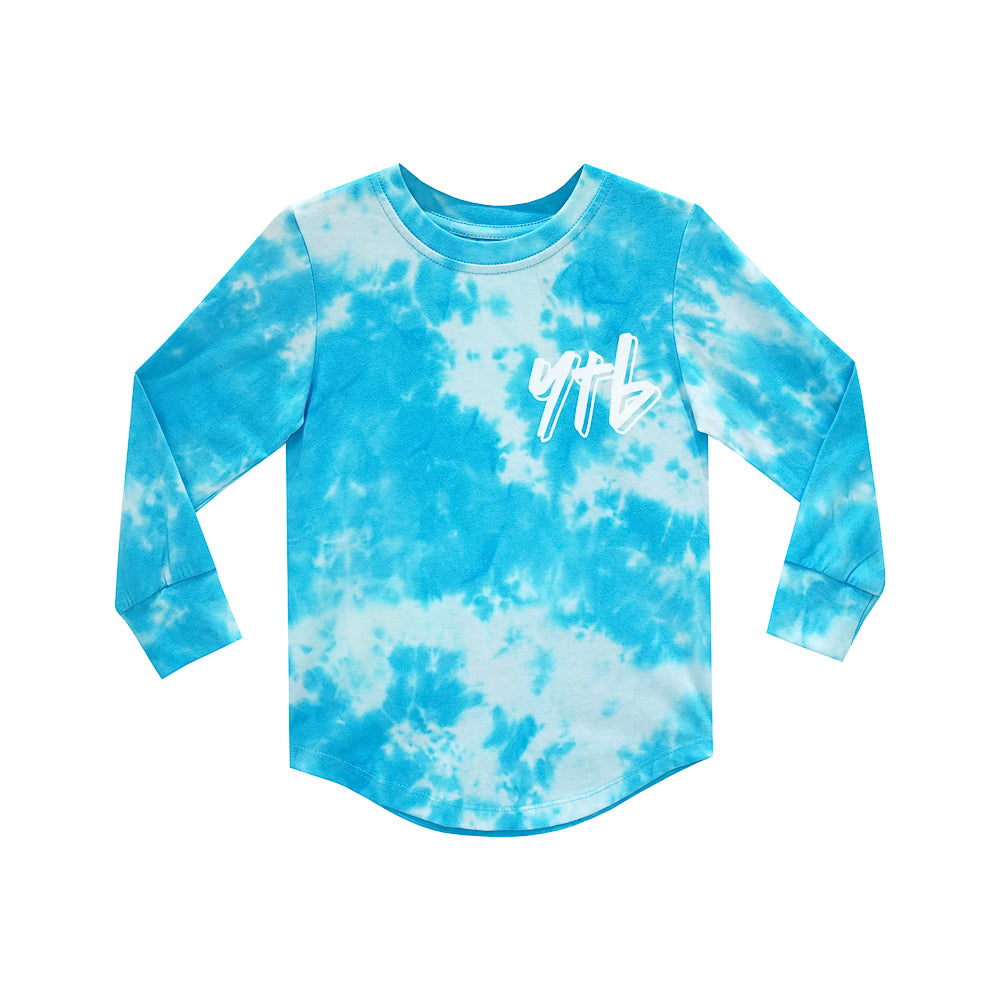 YEAH THE BOYS V2 LONG SLEEVE TIEDYE BLUE