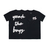 YEAH THE BOYS V2 MENS SMALL PRINT TEE