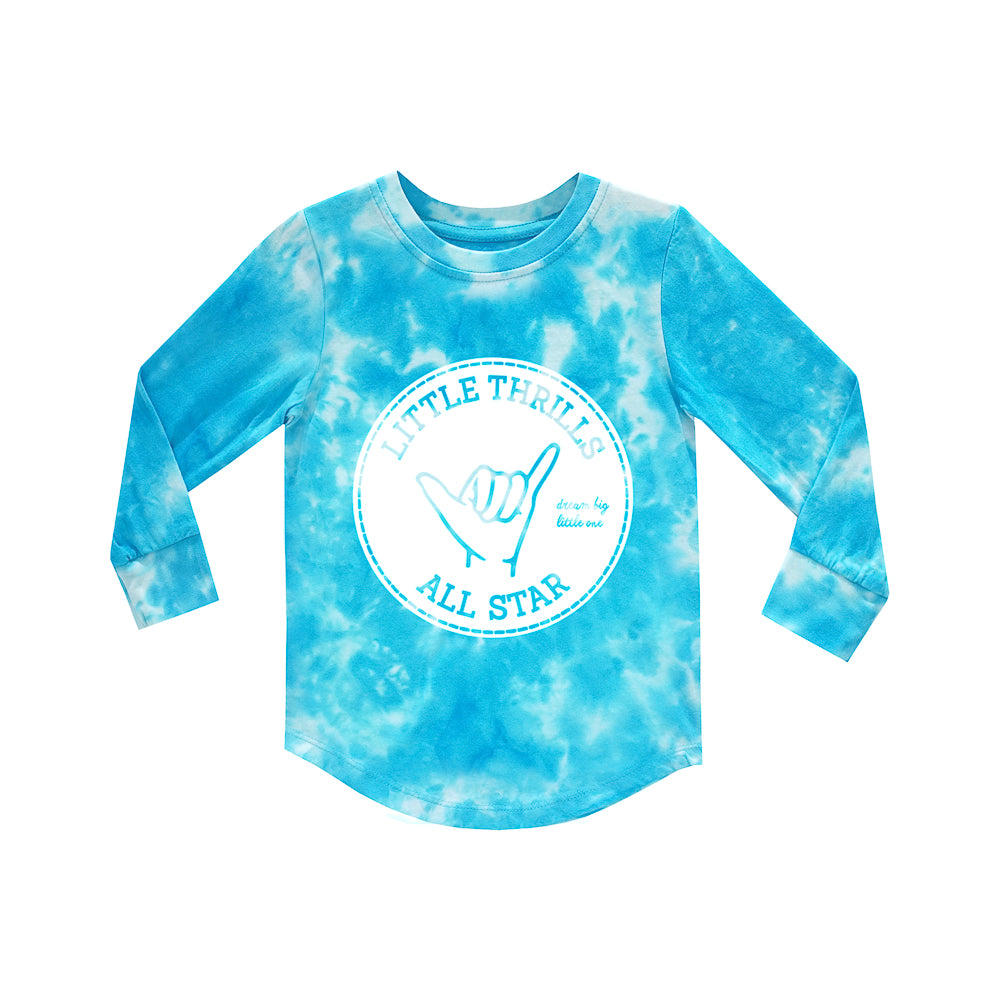 ALL STARS BOYS LONG SLEEVE TIEDYE BLUE