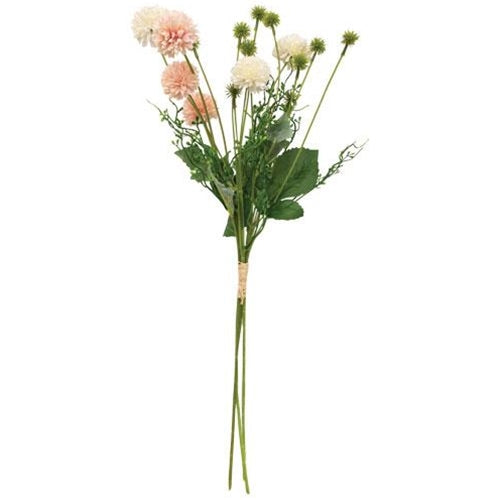 Pink & Cream Wildflower & Thistle Spray 24""