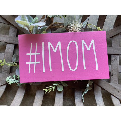 #1MOM Hand Painted Pink Wood Sign