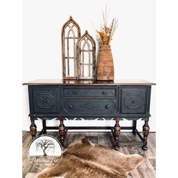 Painted Sideboard - Buffet - Vanity Conversion